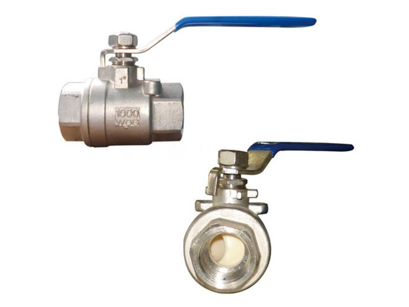 Two piece ceramic core ball valve